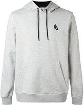 Nike logo hooded sweatshirt - men - Cotton/Spandex/Elastane - S