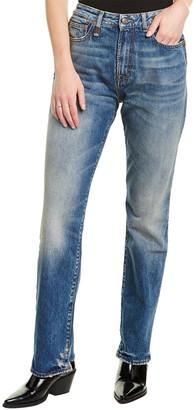 R 13 Double Pocket Riley Indigo Straight Leg Jean