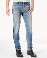 Just Cavalli Men's Side Stripe Distressed Jeans