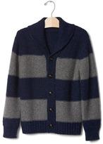Gap Stripe shawlneck cardigan