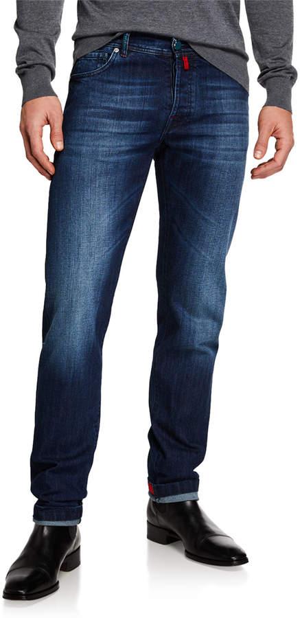 02a7ec3e22 Men's Slim Fit Medium Wash Denim Jeans