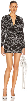 Balenciaga Chains Mini Dress in Black | FWRD