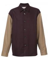 Marni colour block shirt jacket