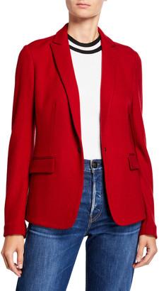 Rag & Bone Lexington Snap-Front Wool Blazer