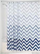 interdesign ombre chevron fabric shower curtain 72inch x 72inch blue