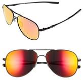 Oakley Women's Elmont 58Mm Aviator Sunglasses - Black/ Ruby Iridium