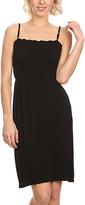Black Smocked Sleeveless Sheath Dress