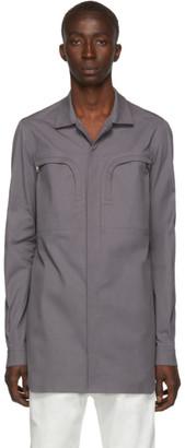 Rick Owens Grey Office Shirt