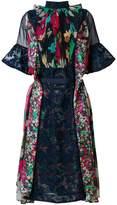 Sacai lace-panelled dress