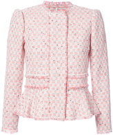 Rebecca Taylor peplum tweed jacket - women - Cotton/Linen/Flax/Acrylic/Virgin Wool - 2