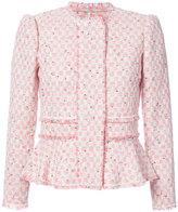 Rebecca Taylor peplum tweed jacket - women - Cotton/Linen/Flax/Acrylic/Virgin Wool - 6