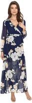 Brigitte Bailey Tilda Floral Print Maxi Wrap Dress