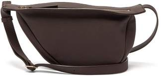 The Row Slouchy Banana Leather Cross-body Bag - Womens - Burgundy