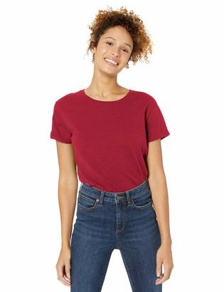 Goodthreads Vintage Cotton Roll-sleeve Open Crew T-shirt Light Blue US M (EU M - L)