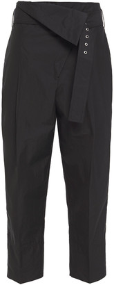 3.1 Phillip Lim Cropped Belted Cotton-blend Poplin Tapered Pants