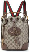 Gucci Brown Supreme GG Canvas Backpack