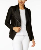 Via Spiga Mixed-Media Leather Jacket