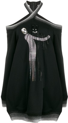 Marco De Vincenzo Embellished Cold Shoulder Jumper