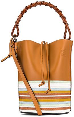 Loewe Gate Bucket Handle Marine Bag in Honey & Multicolor | FWRD