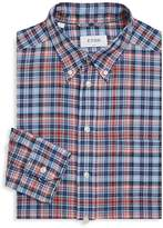 Eton Men's Slim-Fit Plaid Cotton Dress Shirt