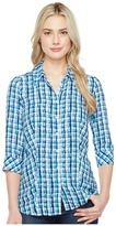 FDJ French Dressing Jeans - Painterly Plaid Top Women's Long Sleeve Button Up