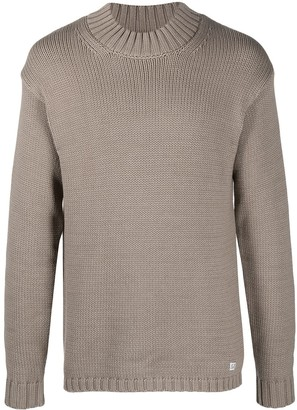C.P. Company Knit Jumper With Chunky Band Collar