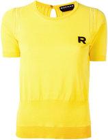 Rochas embroidered R jumper - women - Cotton - 40
