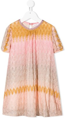 Missoni Kids Metallic Gradient-Effect Dress