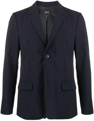 A.P.C. Fitted Single-Breasted Blazer