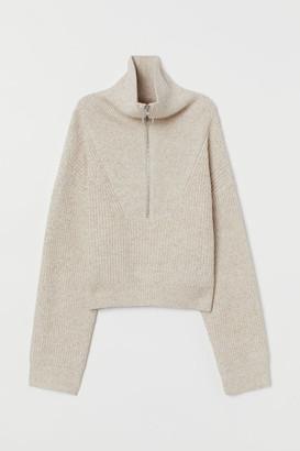 H&M Rib-knit jumper with a collar