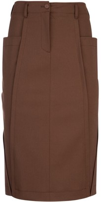Alberta Ferretti Pocket Midi Skirt