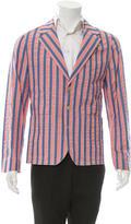 MAISON KITSUNÉ Striped Three-Button Blazer