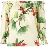 Isolda off shoulder floral tunic