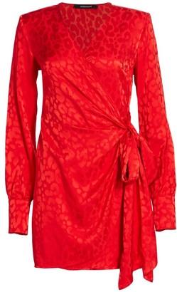 Andamane Carly Side-Bow Mini Wrap Dress
