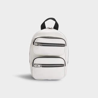 Alexander Wang Attica Soft Medium Backpack In White Lamb Nappa Leather