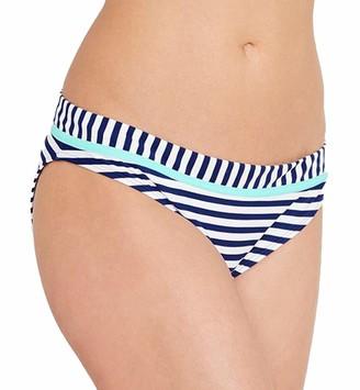 Cleo by Panache Women's Lucille Classic Bikini Swim Brief (CW0069) - Blue - Medium