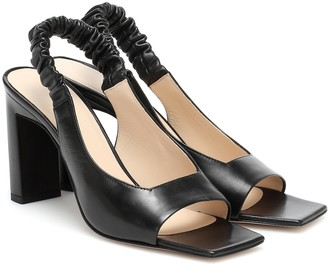 Wandler Isa leather slingback sandals