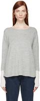 Aalto Grey and Pink Alpaca Wool Paneled Sweater