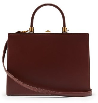 Rodo Frame Top-handle Leather Bag - Womens - Brown