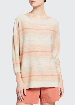 Lafayette 148 New York Bateau-Neck Ombre Sweater