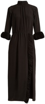 Prada Ruffle-trimmed silk-crepe dress