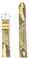 Michele 16mm Leather Strap w/ Tags