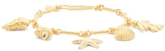 Aurelie Bidermann Cassis Shell-charm Bracelet - Gold