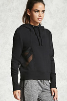 Forever 21 FOREVER 21+ Active Mesh-Paneled Hoodie