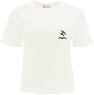 RED Valentino T-shirt With Clover Embroidery