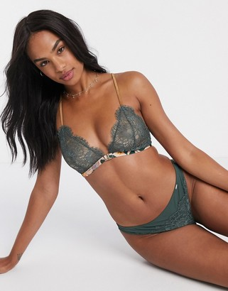 Lindex Ella M Nora lace thong in green