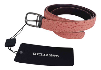 Dolce & Gabbana Pink Leather Belts