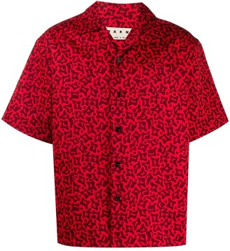 Marni Boxy Short-Sleeve Shirt