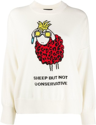 Boutique Moschino Sheep Embroidered Jumper