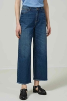 Selected Wide Cropped Jeans